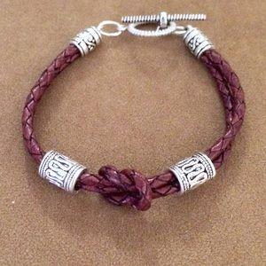 Jewelry - Infinity leather bracelet